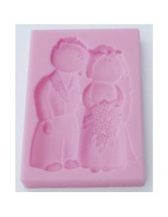 Molde de silicona novios boda