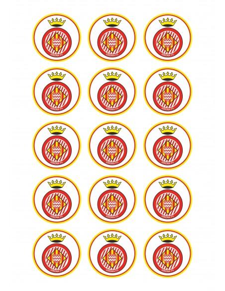 Papel de azúcar escudo Girona FC
