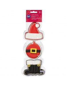 Set 3 Cortadores Santa Claus Wilton
