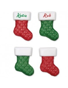 Molde bombones calcetines navideños