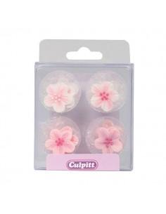 flores azúcar rosas