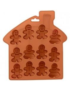 Molde silicona muñecos jengibre