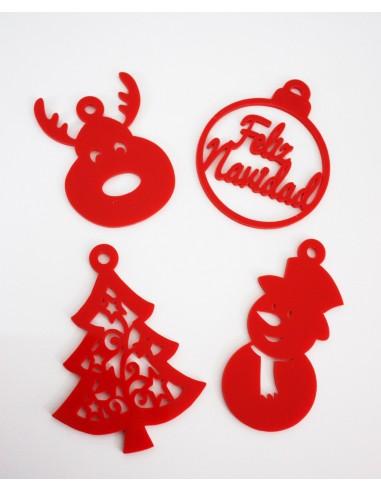 Figuras navide as para el arbol de navidad for Figuras de nieve navidenas