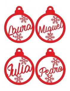 Adornos navideños para el árbol personalizados