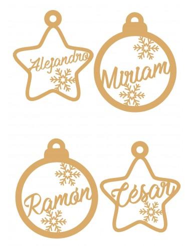 Adornos navideños para el arbol personalizados