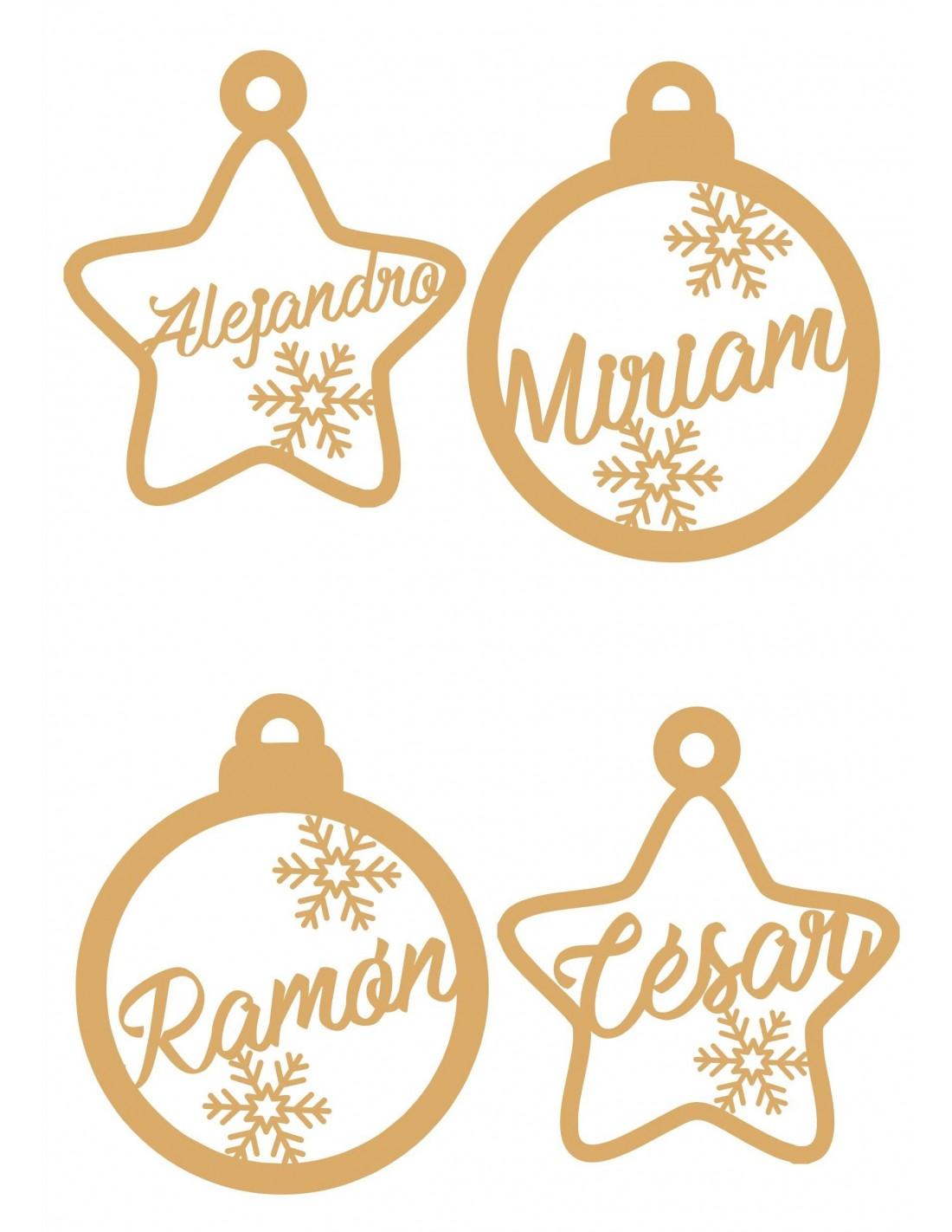 Adornos navide os para el arbol de navidad personalizados for Adornos navidenos para el arbol