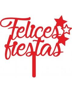 Topper cake Felices Fiestas