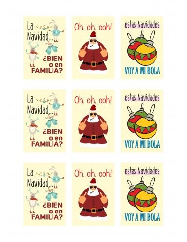 Papel azúcar anti navidad para galletas