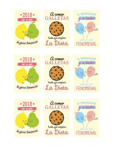 Papel azúcar frases navidad para galletas