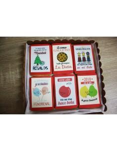 Caja galletas navideñas