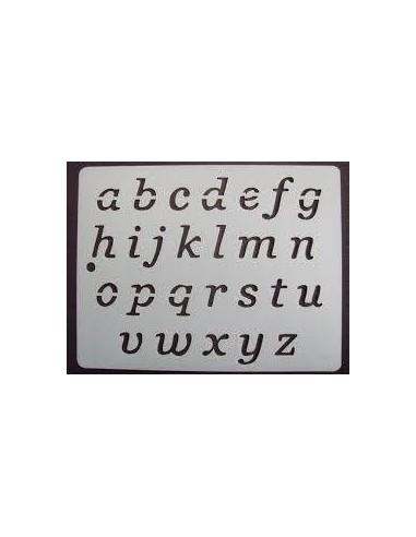 Stencil alfabeto 13x16cm