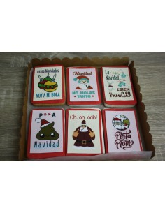 Caja galletas mensajes anti navideños