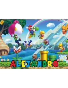 Papel de azúcar personalizado Mario Bros