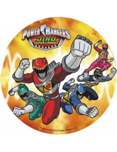 Papel de azúcar Power Rangers C