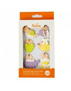 figuritas bebé de azucar variadas