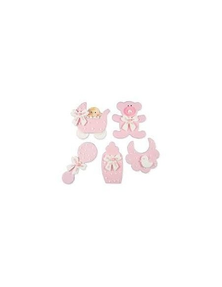 figuritas de azucar bebe rosa