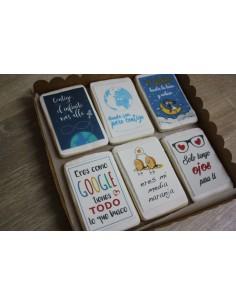 Caja galletas mensajes San Valentín