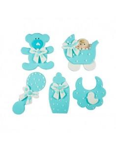 figuritas de azucar bebe azul