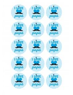 Papel azúcar día del padre i love papa