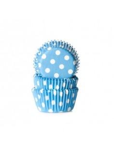 mini cápsulas azules con lunares