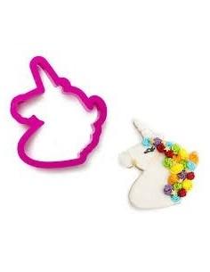 Cortador cabeza unicornio plastico
