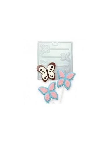 Molde piruletas mariposas Pme