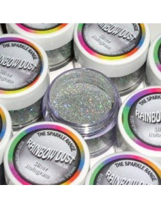 Purpurina decorativa hologran plata
