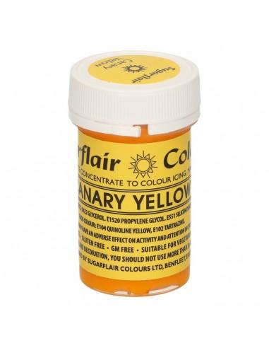 Colorante en Pasta amarillo canario Sugarflair
