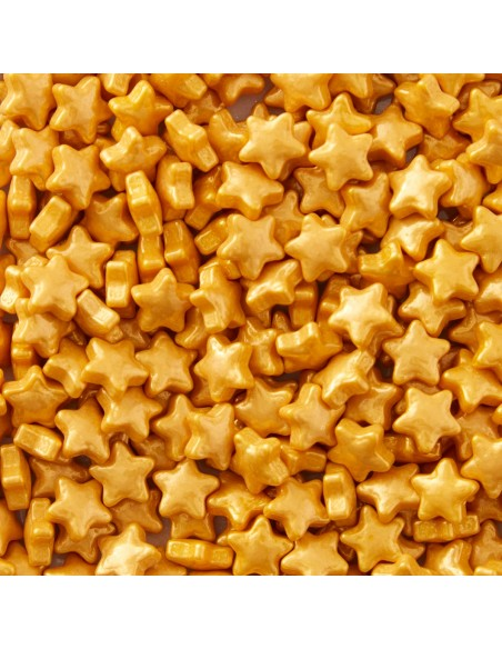 Estrellas comestibles doradas