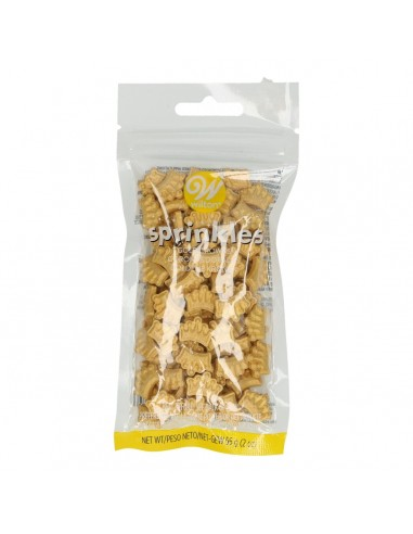Coronas comestibles doradas