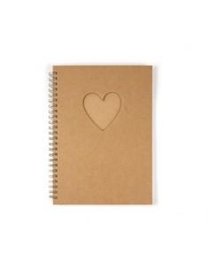 Cuaderno corazón DIN A5