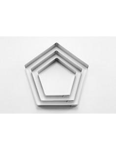 Set de 3 cortadores pentagonos metalicos
