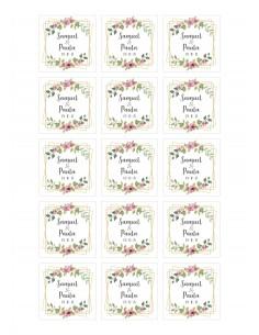 Papel de azúcar boda geometrico floral