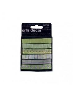 Set de 6 cintas para decorar verde