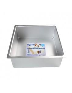 Molde cuadrado de aluminio extra profundo 20 cm PME