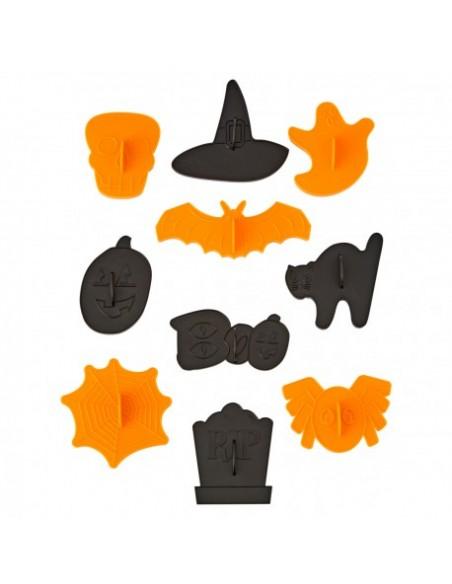 Set 10 cortadores Halloween con marcador