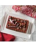 Molde Santa's Sleigh Loaf Pan Nordic Ware