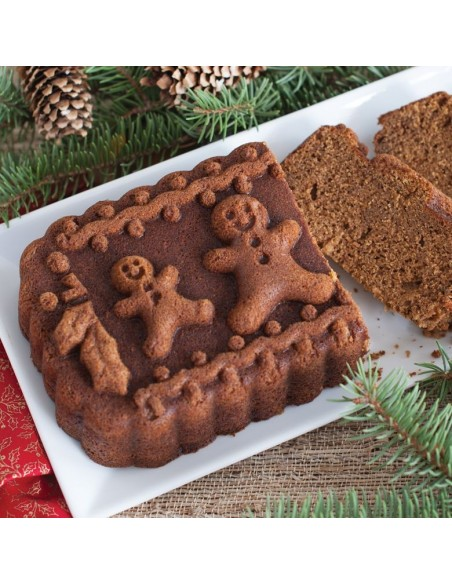 Molde Gingerbread Family Loaf Pan Nordic Ware
