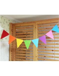 Banderines de papel 10 colores lisos variados
