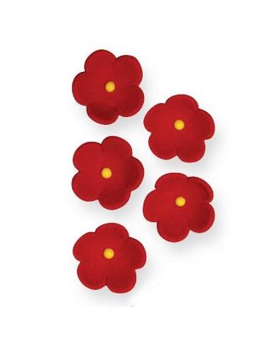 flores azúcar rojas