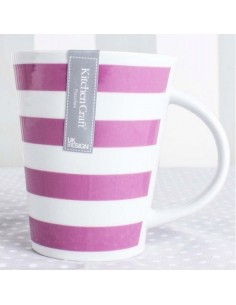 Taza Rayas Fucsia Kitchen Craft