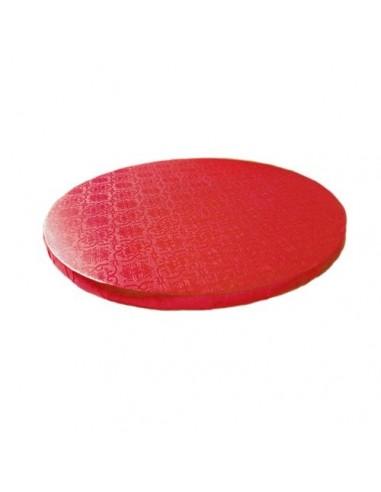 Base Tarta Redonda Roja 30cm x 1cm