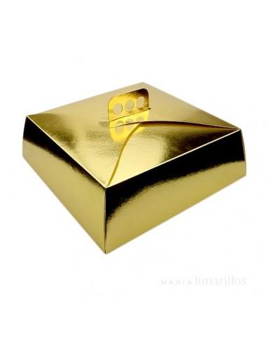 Caja para Tarta 30 cm dorada