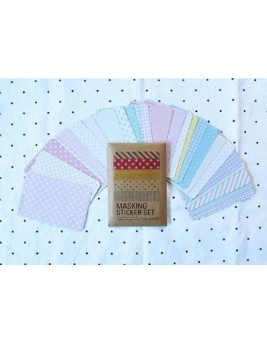 Pack de 27 pegatinas en tonos pastel
