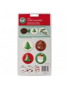 Molde galletas  cubiertas chocolate navidad