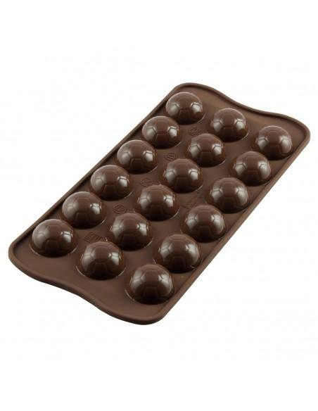 Molde silicona balones de futbol para chocolate