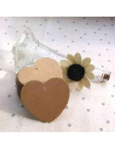 Etiquetas troqueladas con forma de corazón