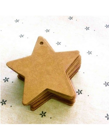 Etiquetas troqueladas con forma de estrella