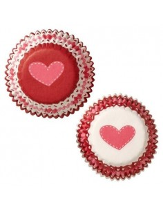 mini cápsulas corazones