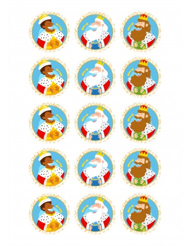 Papel de azúcar galletas Reyes Magos